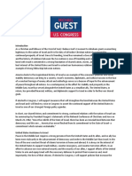 FINALDRAFT-Michael Guest Paper U.S. Israel Foreign Relations