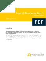 LogicalReasoningTest1 Solutions