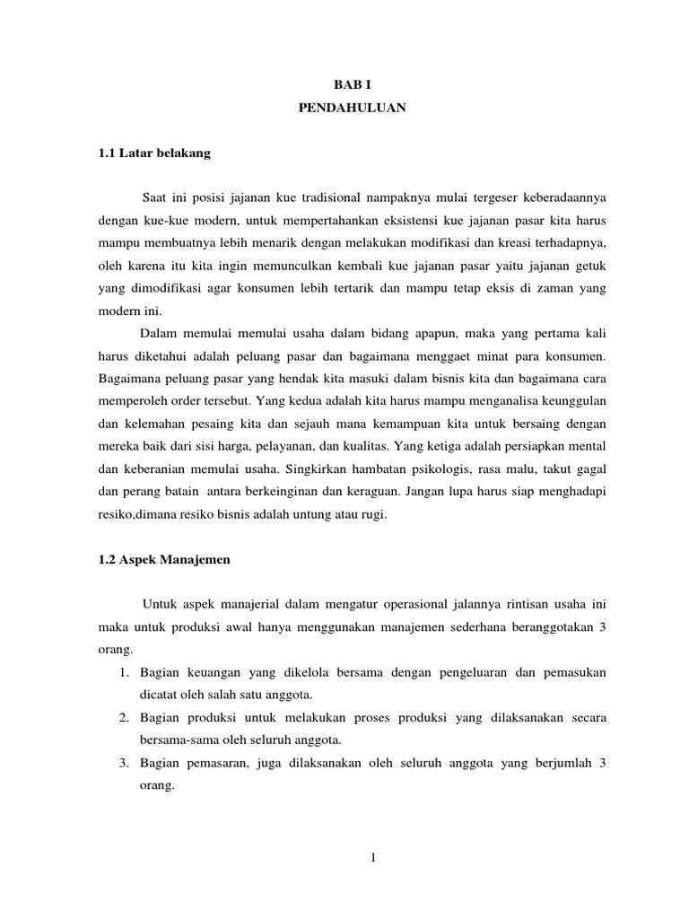 Proposal Usaha Getuk Indra