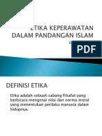 Etika Keperawatan Dalam Pandangan Islam
