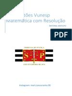90 Questões Vunesp Matemática Com Resolução