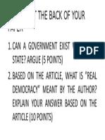 Poligov Quiz #1 Essay