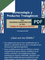 Biotegnologia y Produstos Transgenicos