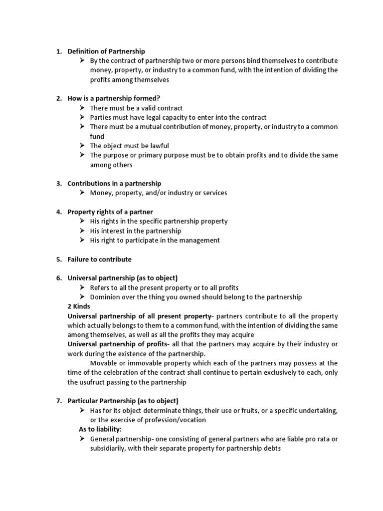 bus org reviewer | partnership | liquidation