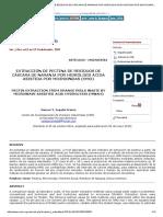 Extracción de Pectina de Residuos de Cáscara de Naranja Por Hidrólisis Ácida Asistida Por Microondas (Hmo)