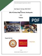 Amar  A Grassroots volunteers' Report of ZPHS School Activities 2016 -  2017