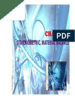 Cev440 Chapter 3 Stoichiometric, Material Balance