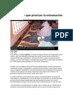 Perú tiene que priorizar la exhumación de 15 mil personas. Por Paola Ugaz