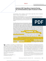 Benzler J, Andrews ZB, Pracht C, Stohr S, Shepherd PR, Grattan DR, and Tups A. Hypothalamic WNT signalling is impaired during obesity and reinstated by leptin treatment in male mice. Endocrinology. 2013;154(12)-4737-45..pdf