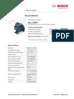 Especificação Técnica Nivel Laser BOSCH Gll-2-80-P-sheet