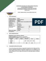 Formulacion y Evaluacion de Proyectos SILABO 2016 B