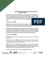 ABC Registro Migrantes Venezolanos en Colombia Con Listado Punto de Registro RAMV