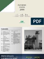Informe Anual 2016 CFE