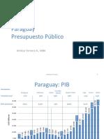 Paraguay Presupuesto Publico por  Amilcar Ferreira