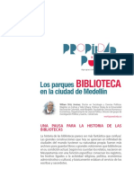 Los Parques Biblioteca en La Ciudad de Medellín