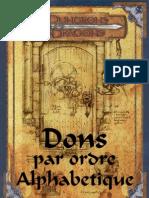1800 dons pour D&D 3.5