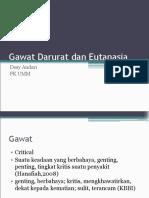 Kegawatdaruratan Dan Eutanasia