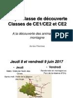 Projet Classe de Decouverte Ce2