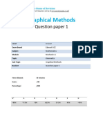8.1-Graphical Methods - Edexcel a Level Maths Mechanics 1 Qp