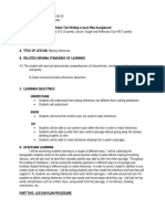 mentor text writing lesson plan