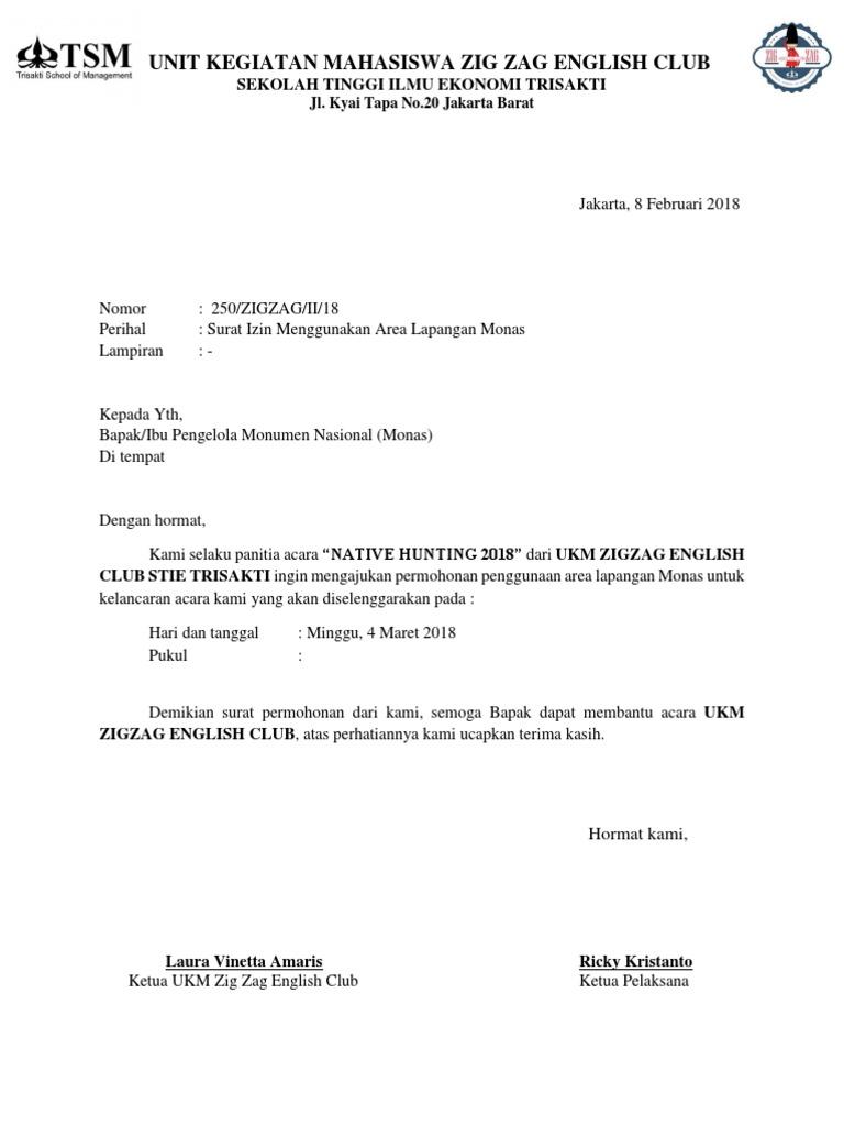 Surat Izin Monas Docx