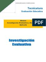Modulo Investigación evaluativa
