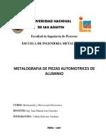 Metalografia en Piezas Automotrices de Aluminio