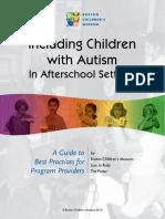 Autism Afterschool Guide