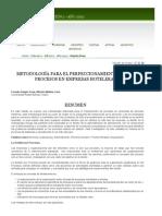 Metodología Para El Perfeccionamiento de Los Procesos en Empresas Hoteleras _ Negrín Sosa _ Cicag