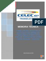 Memoria Técnica Tendido Cable Opgw en Lt Santo Domingo Quininde