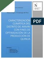 Caracterizacion Climatica Del Distrito d