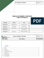 Manual de Normas y Procedimientos Pago a Proveedores