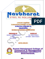 Report on Navbharat Steel Re Rolling Mill
