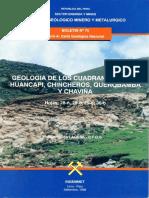Geología Boletin Huancapi 28ñ Chincheros 28o Querobamba 29o Chaviña 30o