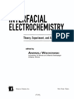 Interfacial Electrochemistry Theory Experiment and Applications
