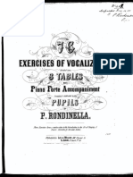 76 exercises of vocalization  by P. Rondinella