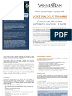 brochure voice dialogue training 2018