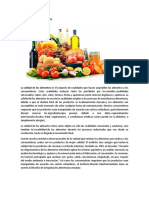 Calidad de Los Alimentos