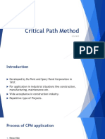 Critical path method CPM