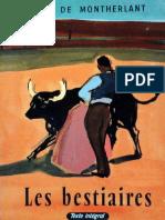 eBook Henry de Montherlant - Les Bestiaires
