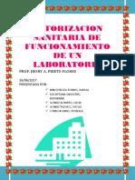 Autorizacion Sanitaria de Funcionamiento de Un Laboratorio
