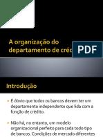 A organização do departamento de crédito1.pptx