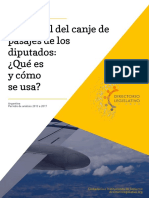 Informe. Canje de Pasajes en La HCDN Argentina