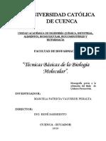 Técnicas Básicas de La Biología Molecular