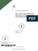Certificado Alumno Regular