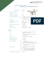 Phantom 3 Professional Especificaciones