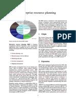 Enterprise Resource Planning1