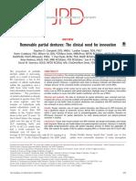 1Proteza Partiala Mobilizabila, Nevoia Clinica de Inovare 2017 Journal of Prosthetic Dentistry