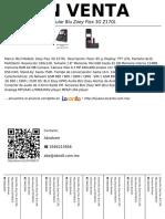 Celular Blu Zoey Flex 3G Z170L