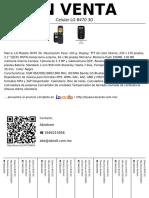 Celular LG B470 3g